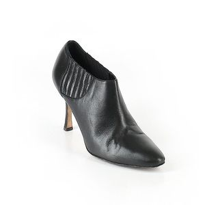 Manolo Blahnik Bootie Black Italian Leather